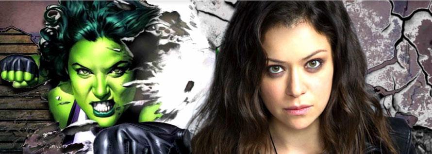 """Hatte ihren Durchbruch mit """"Orphan Black"""": Tatiana Maslany (rechts). Und wechselt nun von Schwarz zu Grün: She-Hulk (links)."""