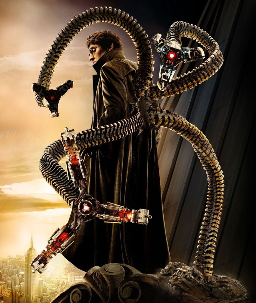 Kann mit 15 Bällen gleichzeitig jonglieren: Doctor Octopus.