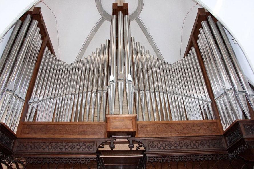 Orgelprospekt der neuen Merten-Orgel in St. Vitus - Foto: Kirchengemeinde