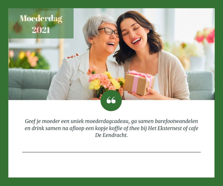 Topbloemen en kaart moederdag orgineel moederdag cadeau
