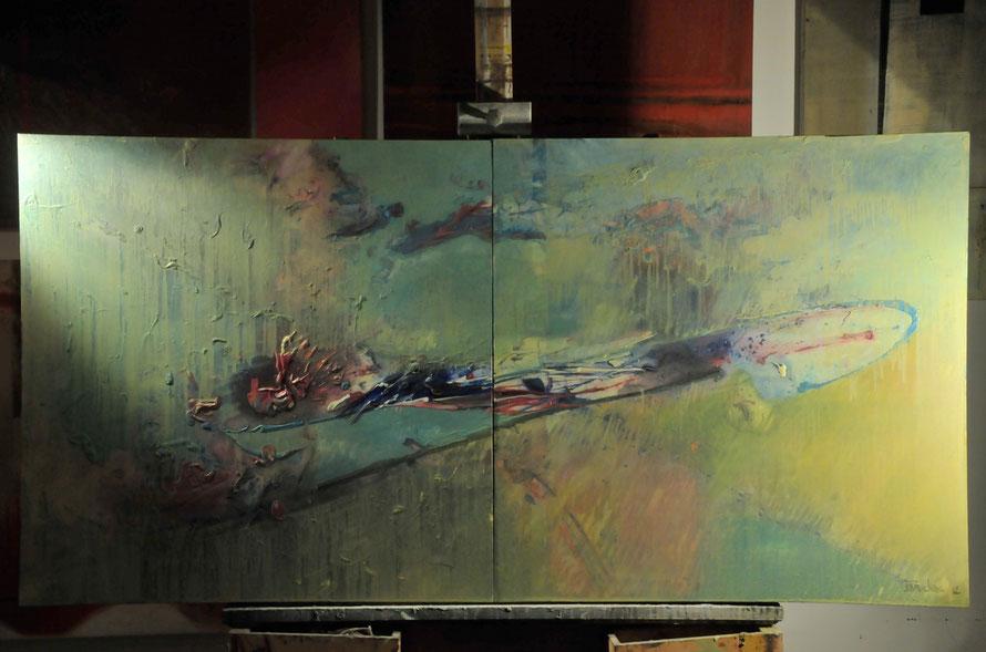 Oil on canvas 200x100