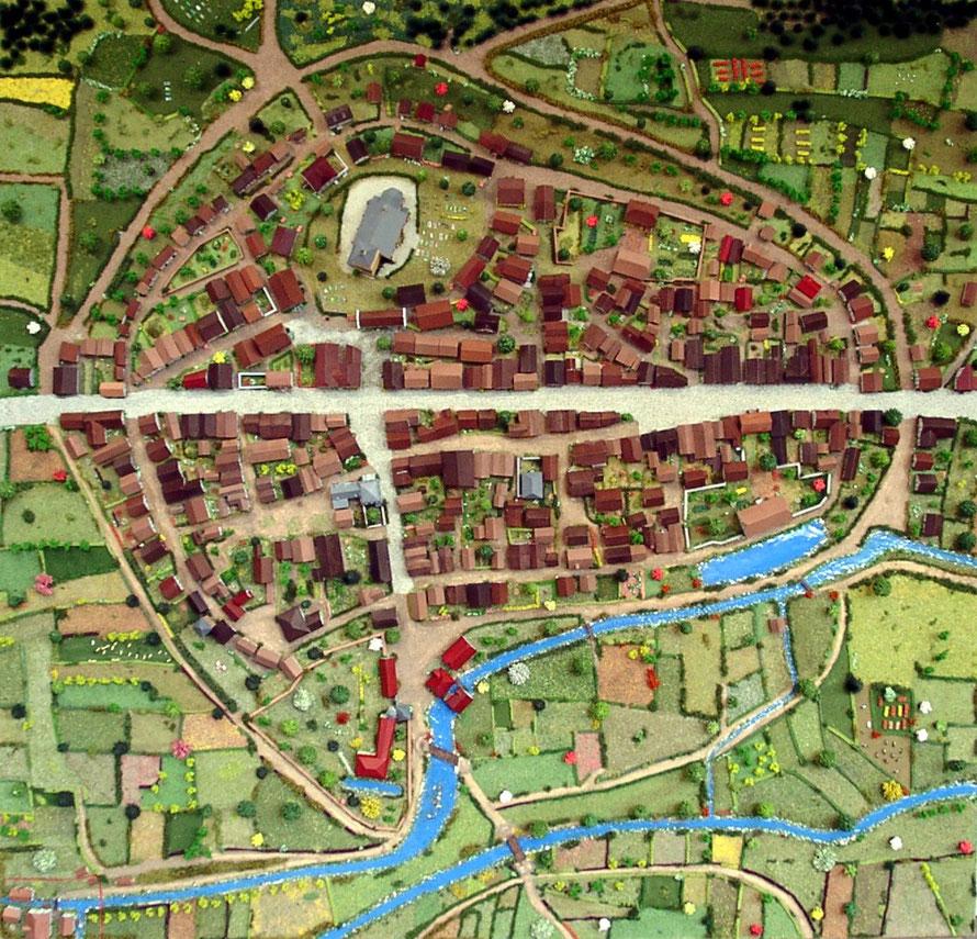 Ansicht Mendener Stadtmodell nach dem Urkataster von 1829