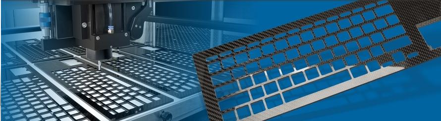 Auf diesem Bild ist ein gefräster Tastaturausschnitt abgebildet.