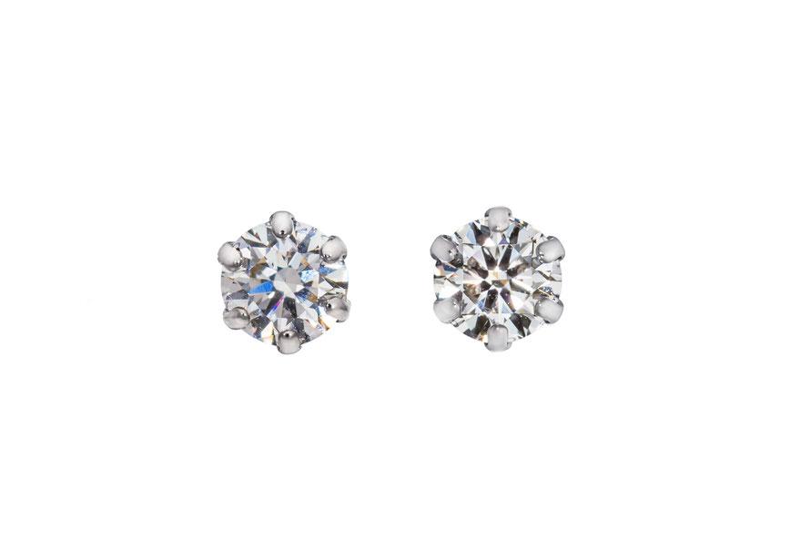 パッションダイヤモンド 合成ダイヤモンド ピアス ラボグロウンダイヤモンド