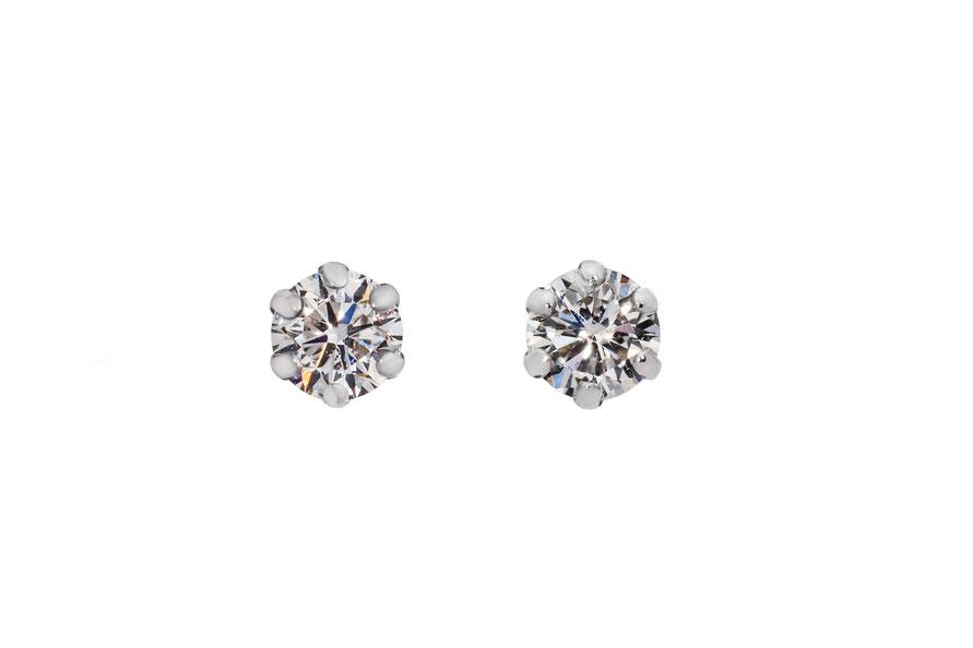 ピアス 合成 ダイヤモンド ラボグロウン 合成ダイヤモンド