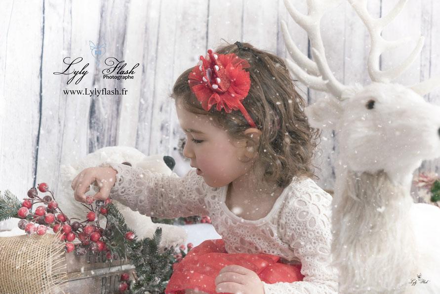 photographe var Photo de Noël sous la neige