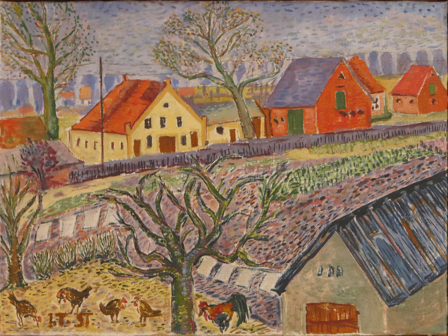 Blick aus dem Fenster: Kalberkamp, Erichshof (vl. Hohnhorst, Kaufmann, Lübeck)