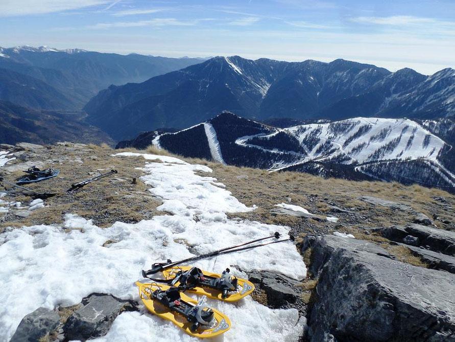 Vue sur les pistes de ski de La Colmiane