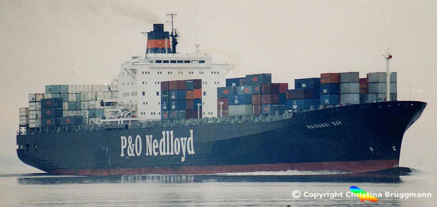 """P&O Nedlloyd Kühlcontainerschiff """"MAIRANGI BAY"""" 01.2001"""
