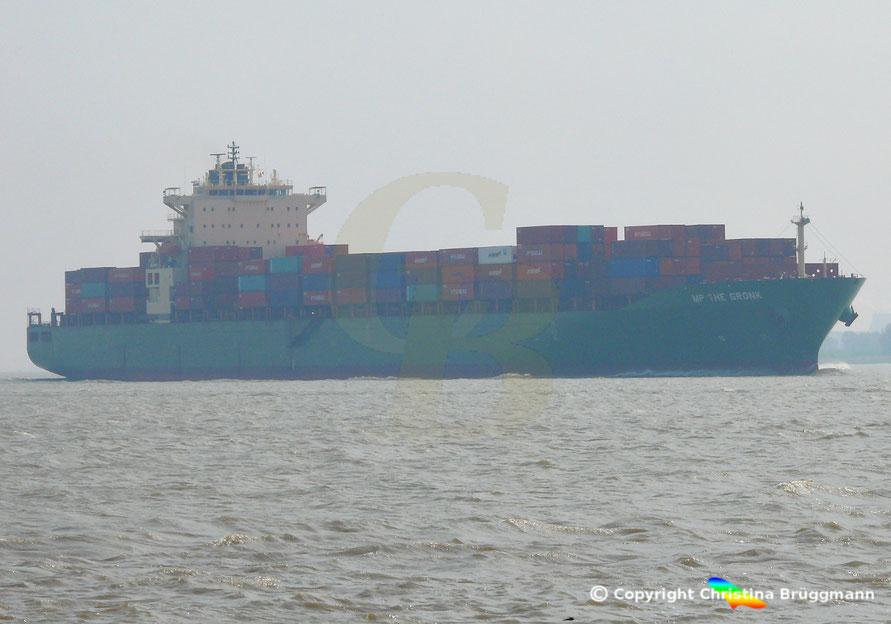 Containerschiff MP THE GRONK auf der Elbe 30.04.2019