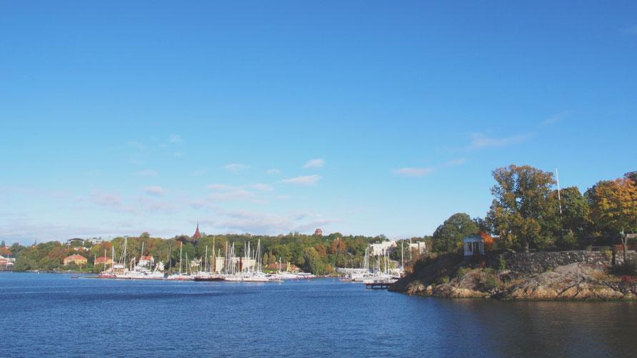 stokholm archipel bigousteppes suède mer ciel bleu bateau voiliers