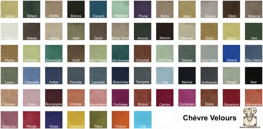 Gamme cuir chèvre velours ecrin malle2luxe 60 coloris disponible