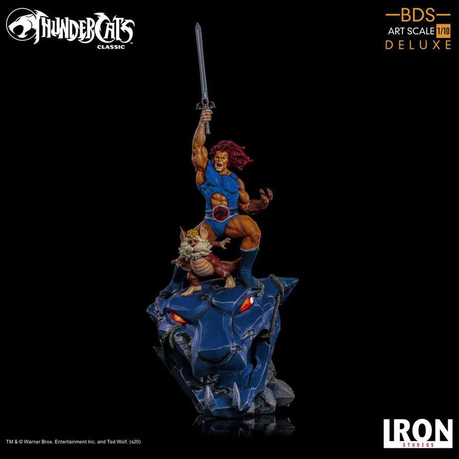 Lion-O & Snarf Deluxe 1/10 Thundercats BDS Art Scale Statue 43cm Anime Iron Studios