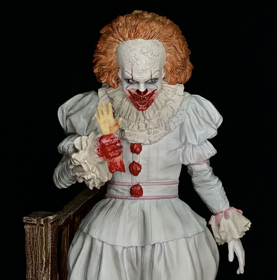 Pennywise 1/10 Stephen Kings Es 2017 Art Scale Statue 25cm Iron Studios IS77356