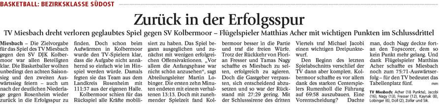 Bericht im Miesbacher Merkur am 21.2.2017 - Zum Vergrößern klicken