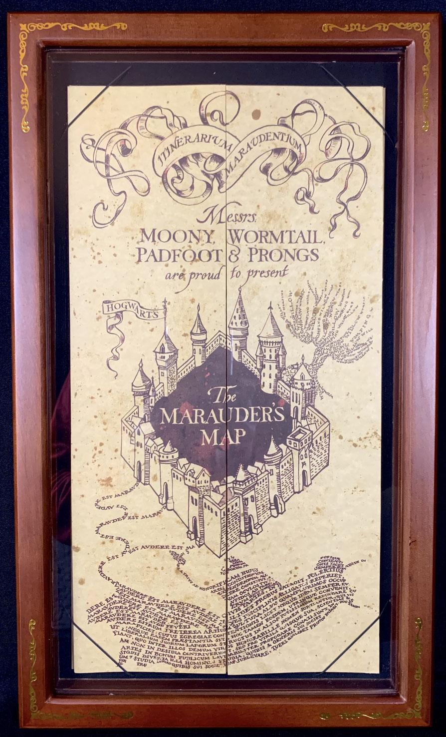Die Karte des Herumtreibers & Display 45x26cm Harry Potter Noble