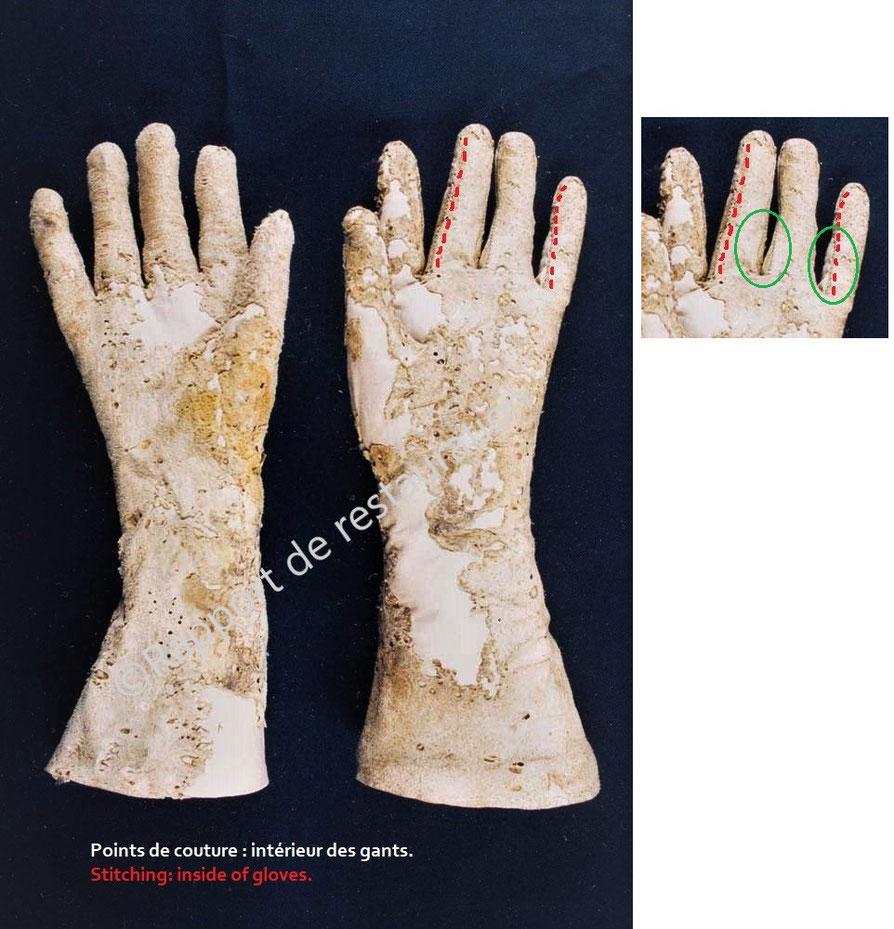 Fig. 21 - Autre vue des points de couture. ©rapport de restauration