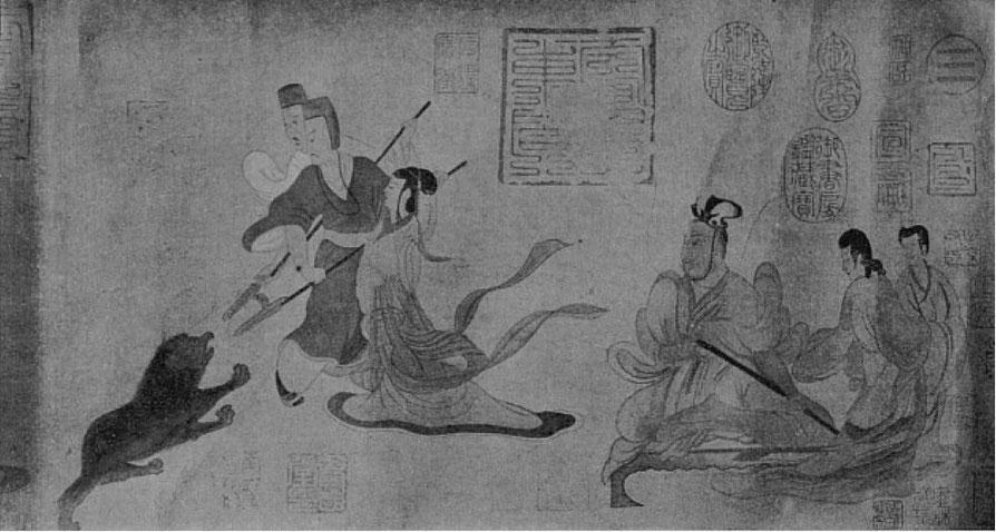 2a. Les avertissements des dames de la cour. Gaston MIGEON (1860-1930) : Observations sur la peinture chinoise Revue de l'art ancien et moderne, Paris. Tome 49, 1926.