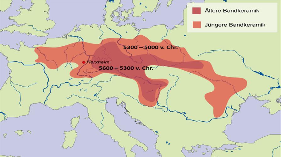 Verbreitungsgebiet der Bandkeramik