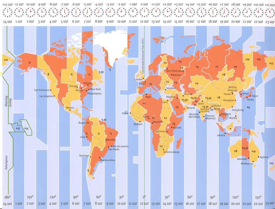 tijdzones wereld GMT