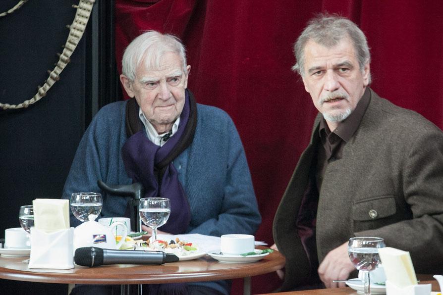 Писатель Даниил Гранин и режиссер Юрий Цуркану. 2014 год