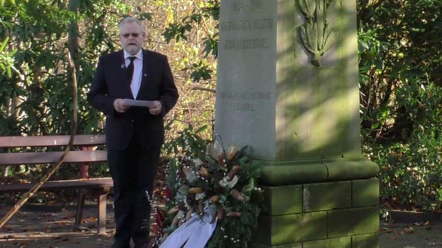 Auch die Ansprache von Bügervorsteher Henning Meyn ist im Video zu sehen (Foto: Screenshot)