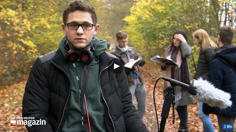 Der Quickborner Filmemacher Louis Bennies steht im Mittelpunkt eines NDR-Beitrages (Screenshot NDR-Website)