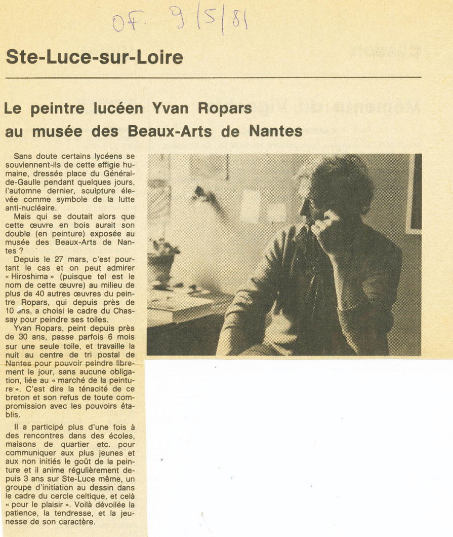 Ouest-France 9 mai 1981