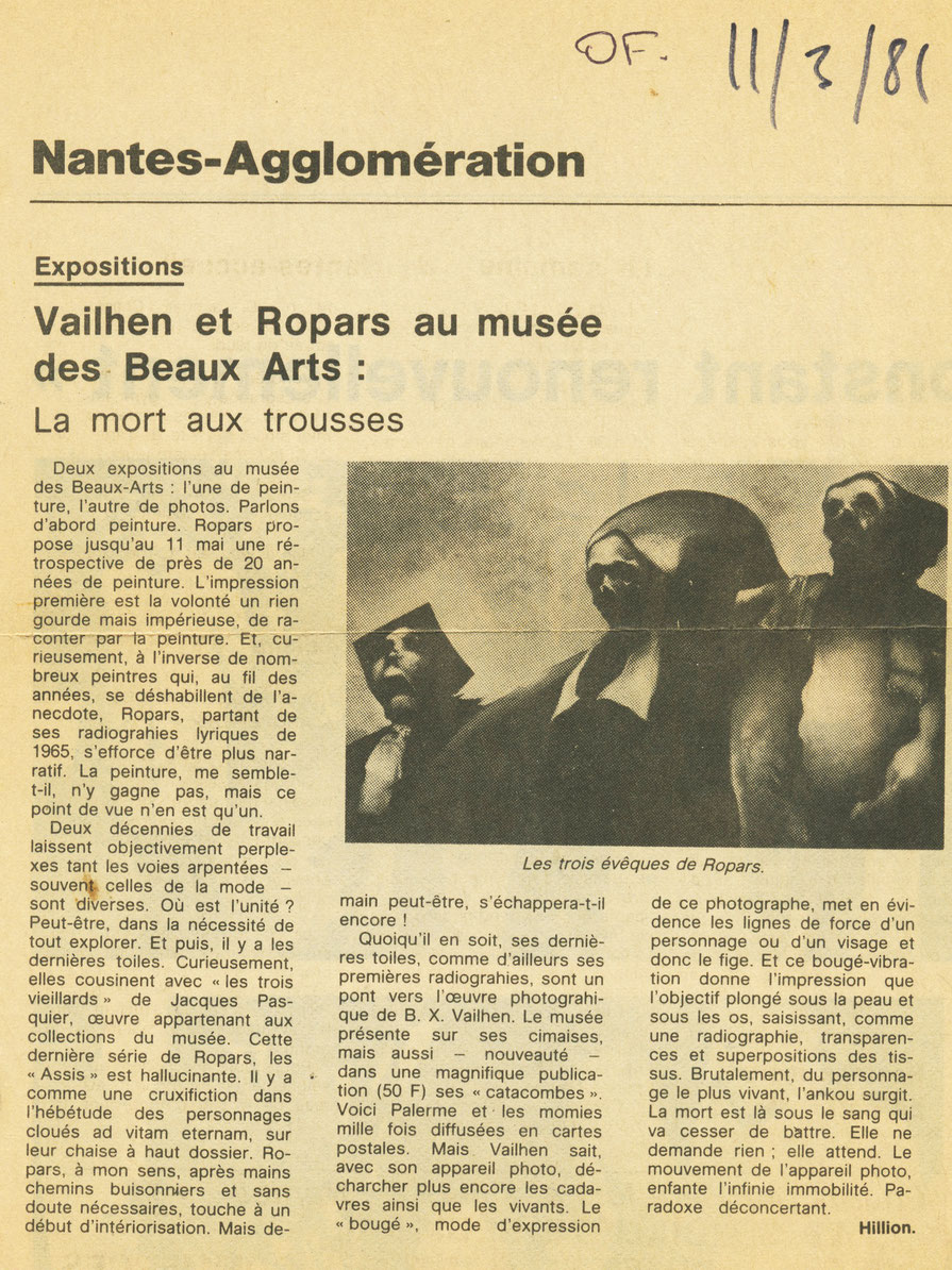 Ouest-France 11 mars 1981