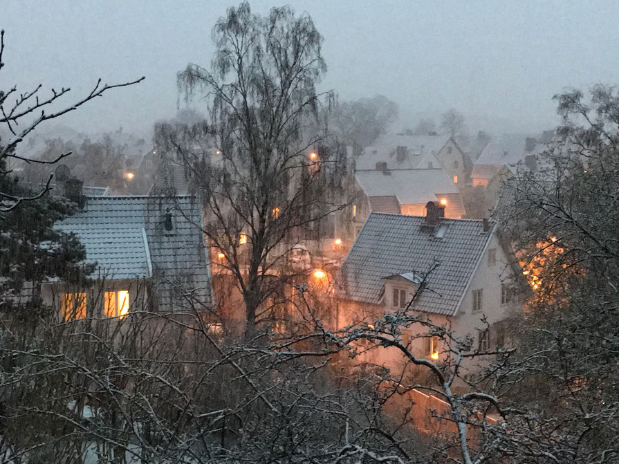 Snow on Easter - Cosy atmosphere, Göteborg