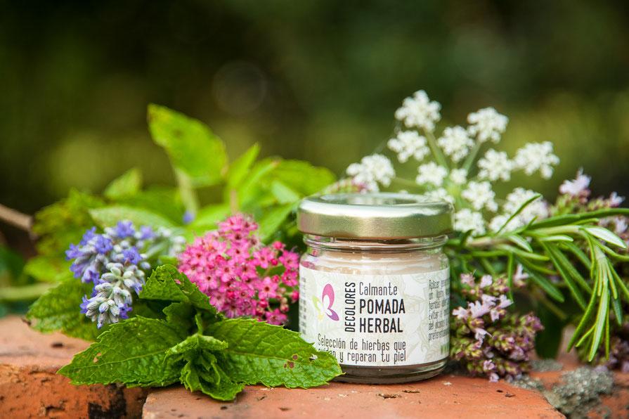 Pomada herbal calmante natural online-decolores natur-cosmética natural y ecológica