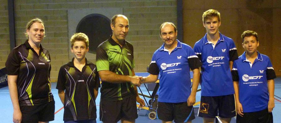 Couzeix 6 contre Aixe/Vienne 4 : Hervé L, Quentin B et Dylan B.