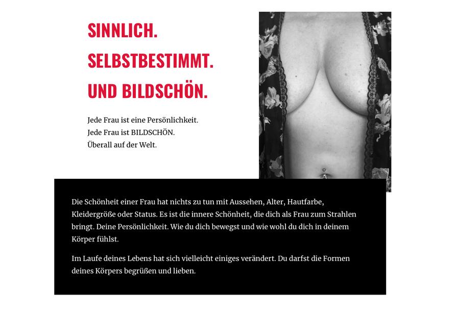 Wir sind BILDSCHOEN - neues Fotoprojekt für uns Frauen von Fotografin
