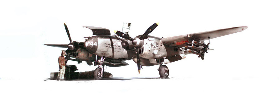 Lockheed P-38 L5 OL Trumpeter kit 1/32 scale model (classic version NMF)