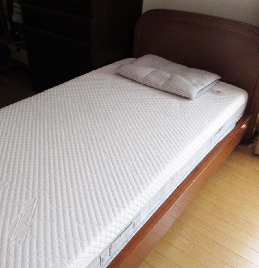 マニフレックスの高反発マットレス「モデルローマ」 と 西川リビングFIT LABO 「オーダーメイド枕」