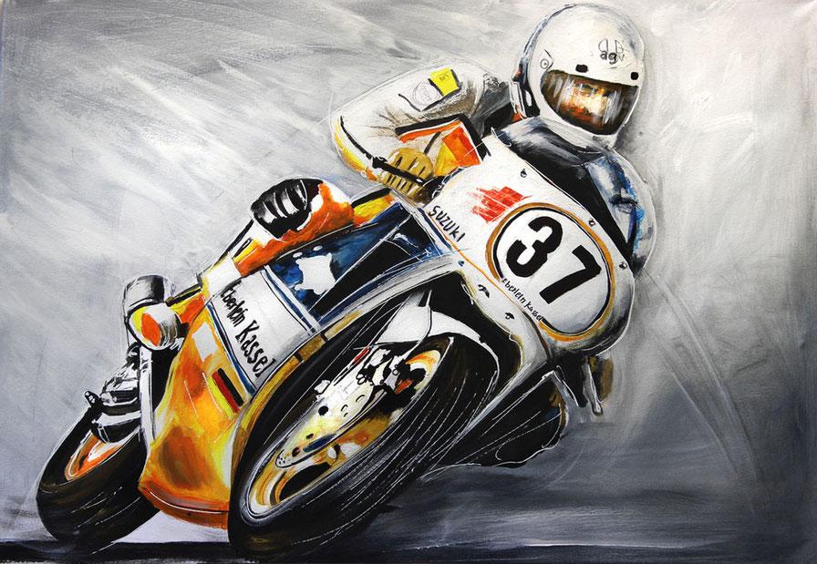 Einst selbst auf der Rennstrecke: Helmut Eberlein gab bis 1987 selbst bei Superbike-Rennen Gas.