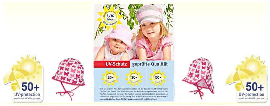 UV - Schutz Kopfbedeckungen von Fa. Sterntaler im Wandl´s Gwandl