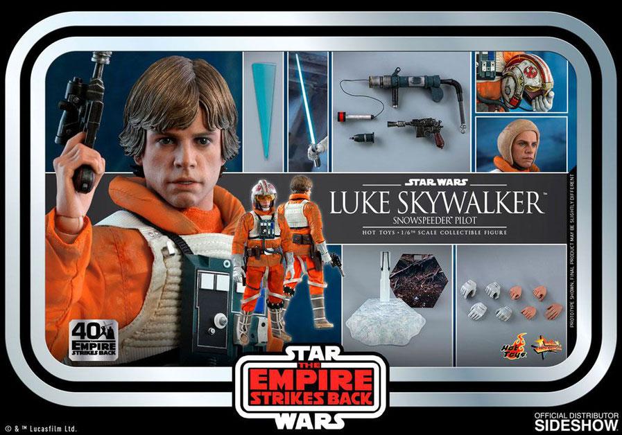 Luke Skywalker (Snowspeeder Pilot) 1/6 Star Wars Episode V 40th Anniversary TESB Movie Masterpiece Actionfigur 28cm Hot Toys
