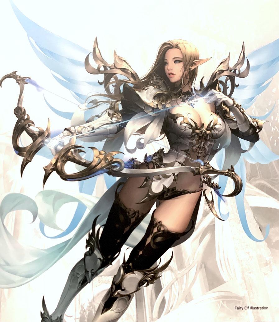 Fairy Elf 1/7 MU Online Game Anime Statue 35cm Vertex