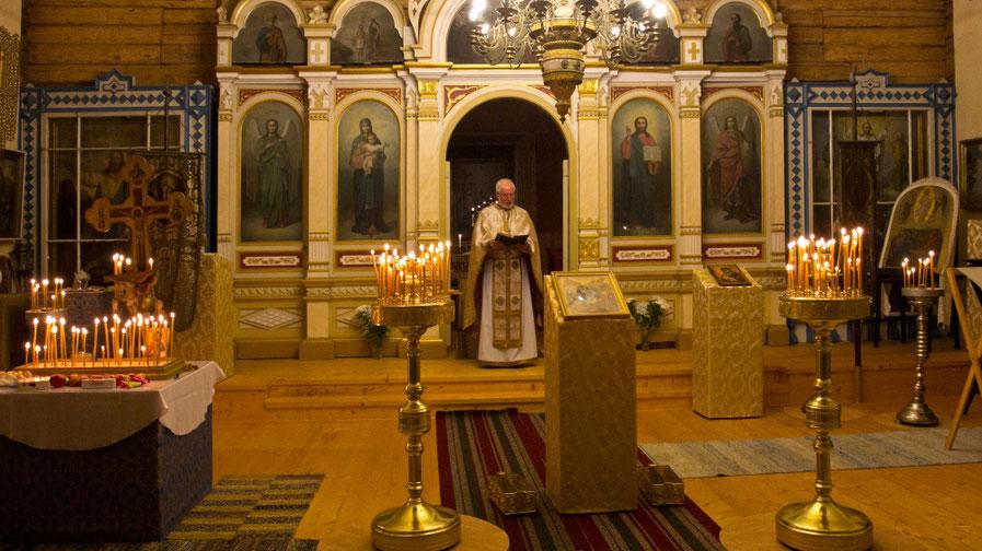 Velykų mišios Obinitsos bažnyčioje / Foto: Kristina Stalnionytė