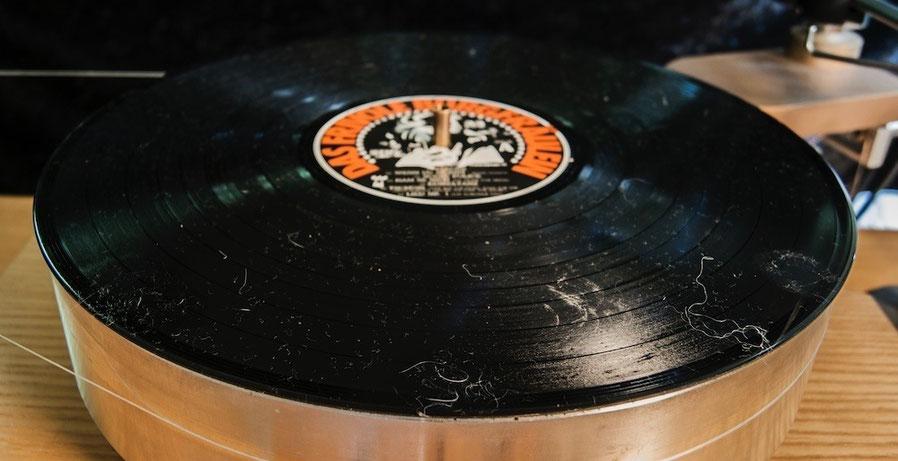 Audio Desk Systeme Gläss Vinyl Cleaner Pro - LP vor der Reinigung