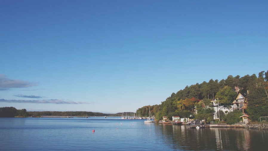 île suède stockholm archipel bigousteppes mer ciel bleu maison barque