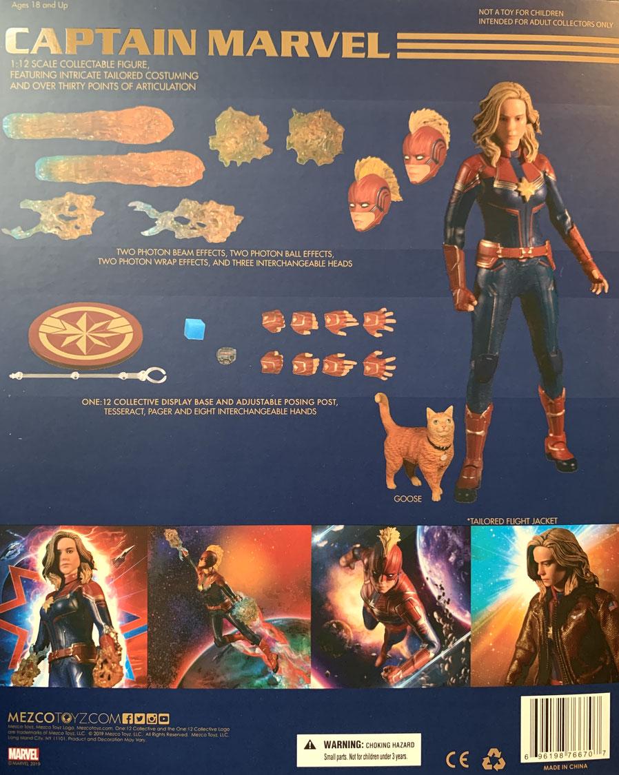 Captain Marvel 1/12 Avengers Actionfigur The One: 12 Collective 16cm Mezco Toys