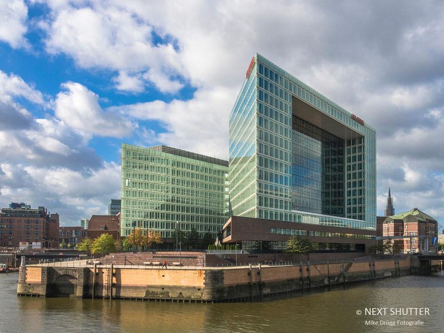 Eines der beeindruckensten Gebäude der Hafencity ist das Verlagshaus des SPIEGEL