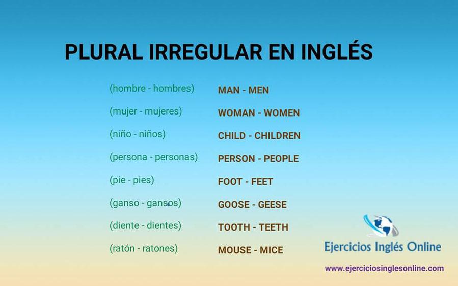plural irregular en inglés