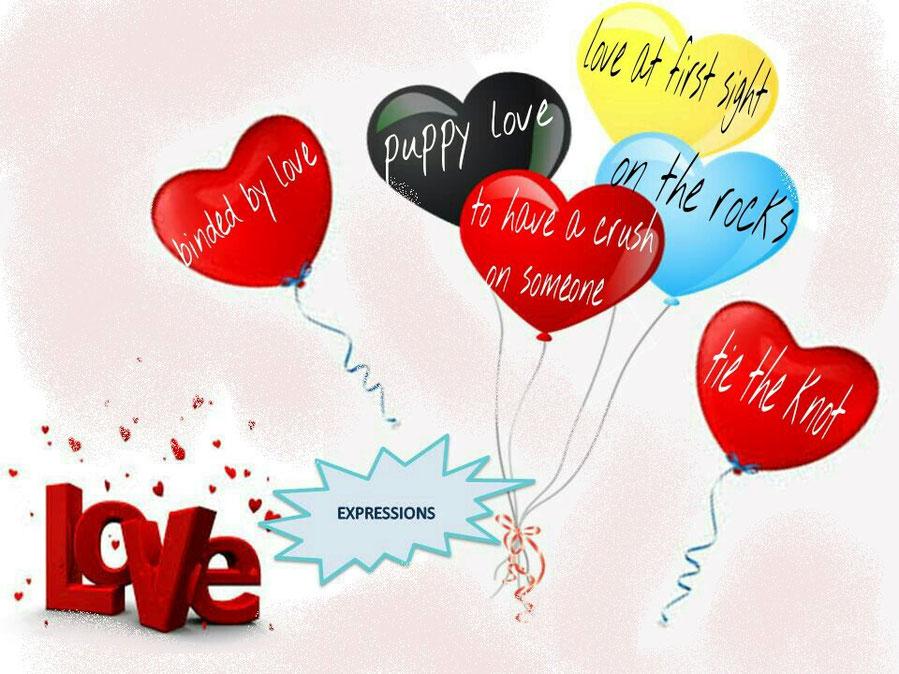 Expresiones de amor en inglés.