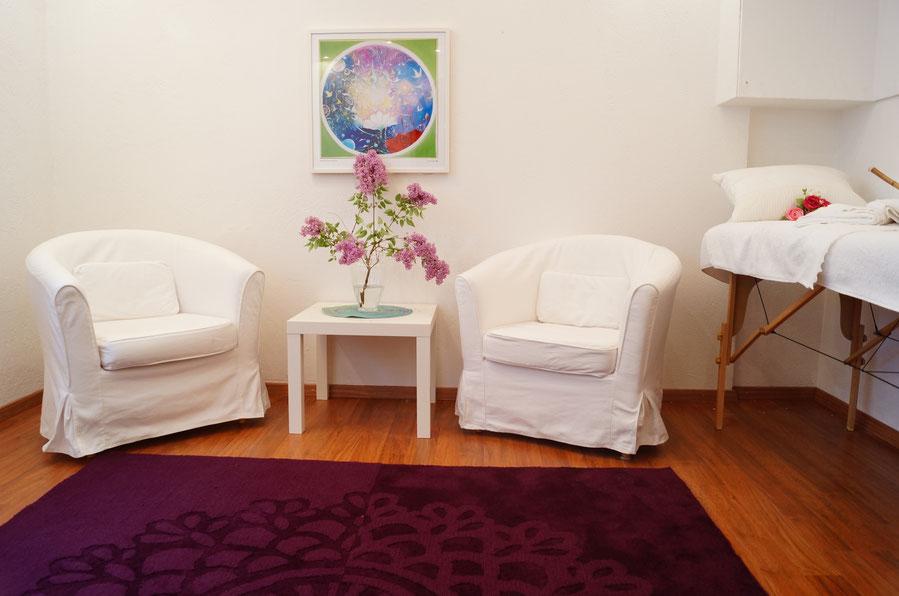 Beratungsraum Santosha Höhenkirchen auch für Massagen