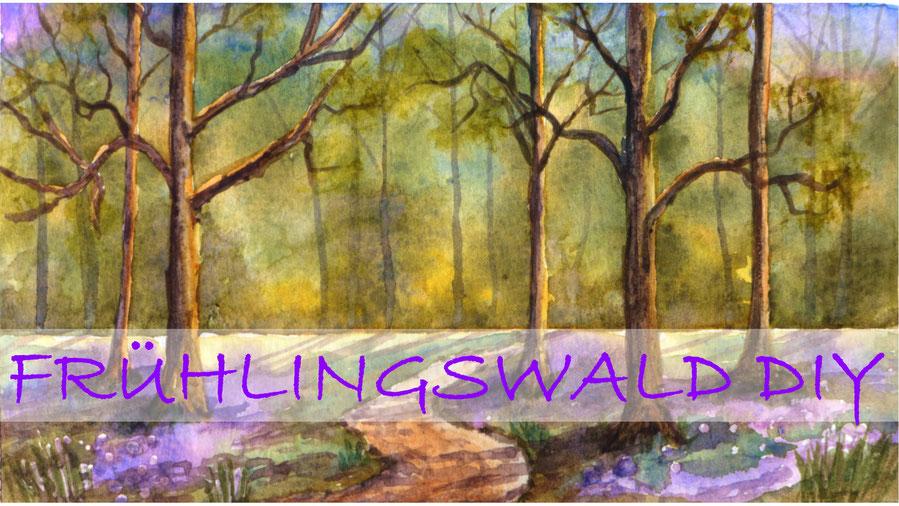 Inspiration - Frühlingswald mit Krokussen in Aquarell malen - DIY-Projekt