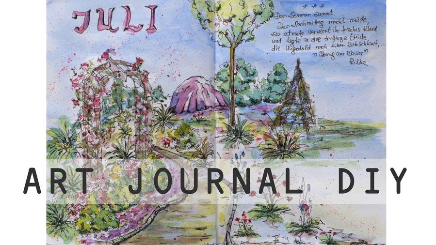 Art Journal - Mein Gartenjahr - Juli - DIY-Projekt