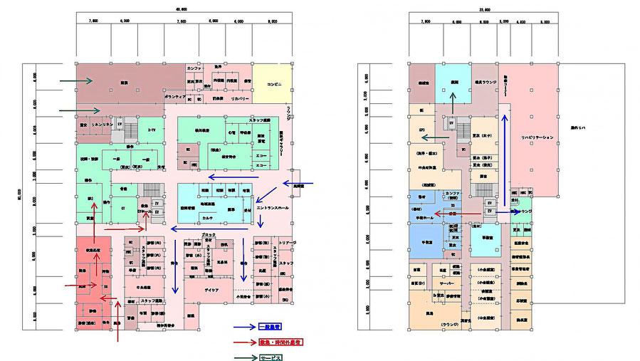 1階と2階の平面計画